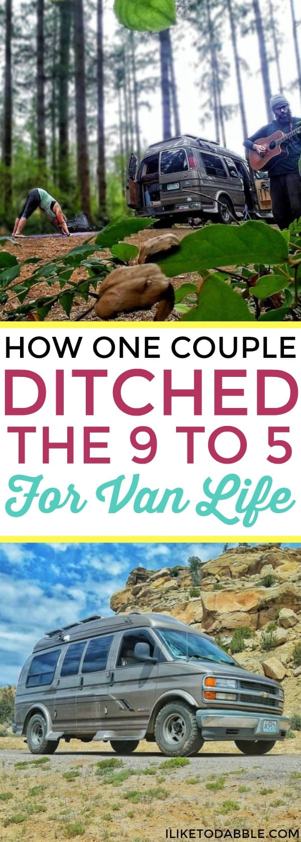 How one couple ditched the 9 to 5 for van life. Van life. Travel full time. Van lifers. Van life movement. Life of adventure. #vanlife #ditchthe9to5 #vanlifer #vanlifediaries #travelfulltime #vanlifemovement