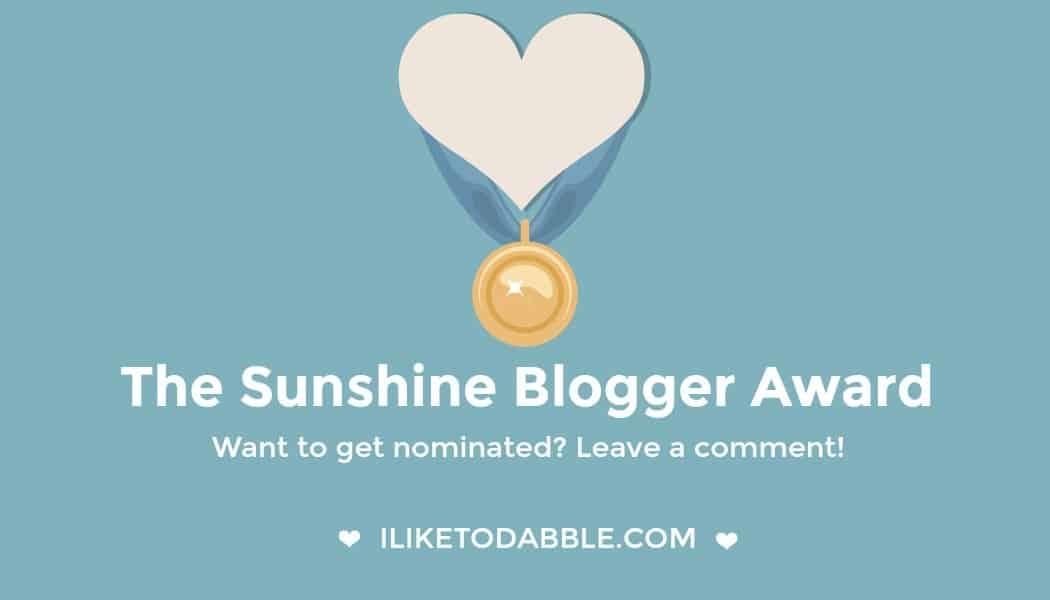 Get Nominated For The Sunshine Blogger Award