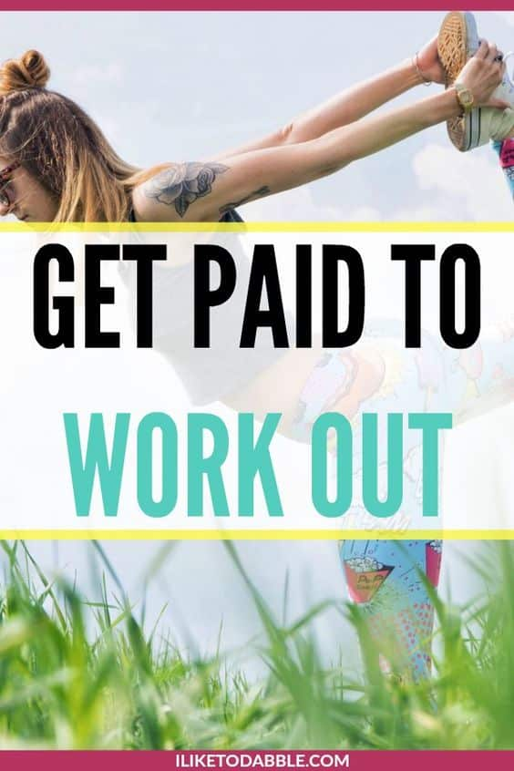 Get paid to work out. Make money living a healthy lifestyle. Make money working out. Lose weight for free. #workout #fitness #getpaidtoworkout #healthlifestyle #sidehustle