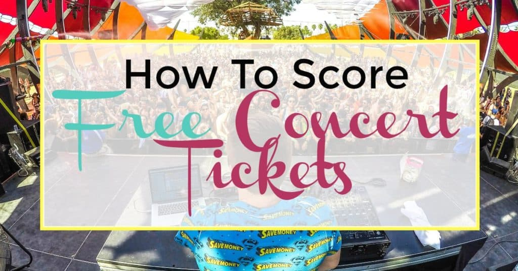 free concert tickets