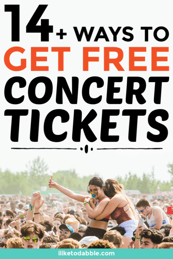 Free concert tickets. How to get free concert tickets. How to get discount concert tickets. Frugal ways to save money. How to get free stuff. #freetickets #savemoney