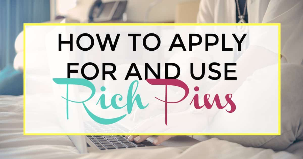 how to apply for and use rich pins
