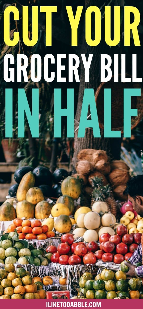 Save money on groceries. Cut your grocery bill in half. #savemoney #frugalfoodie