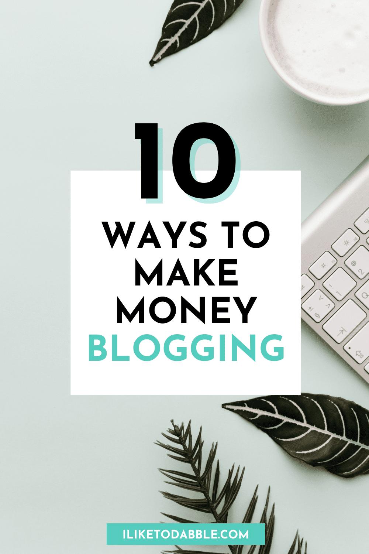 make money blogging pinnable image