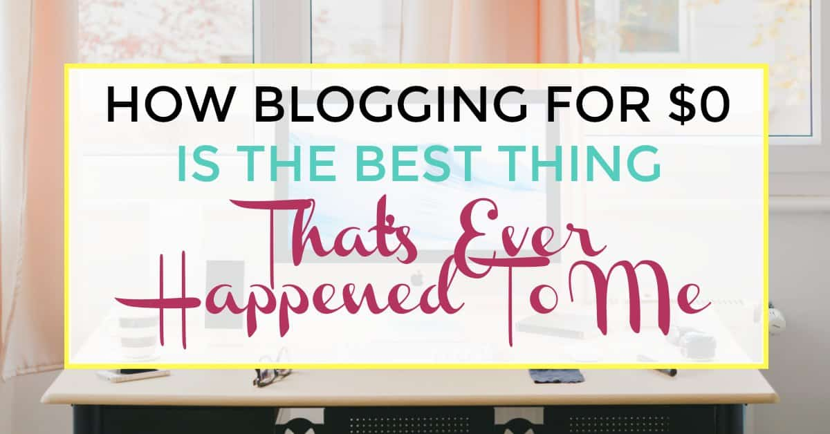 blogging for $0