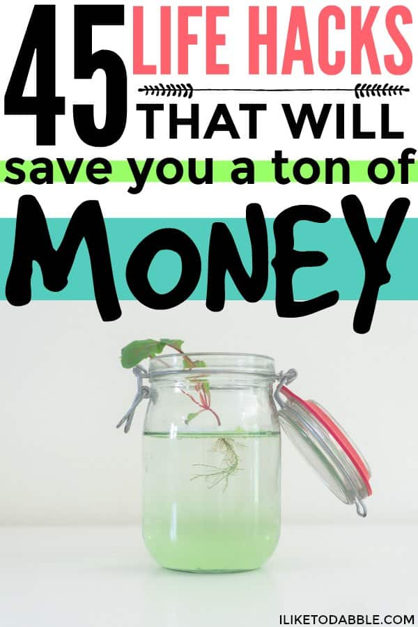 Life hacks to save money. Tips to save money. Money saving tips. Frugal and thrifty living. Frugal living hacks. #lifehacks #savemoney #frugalliving