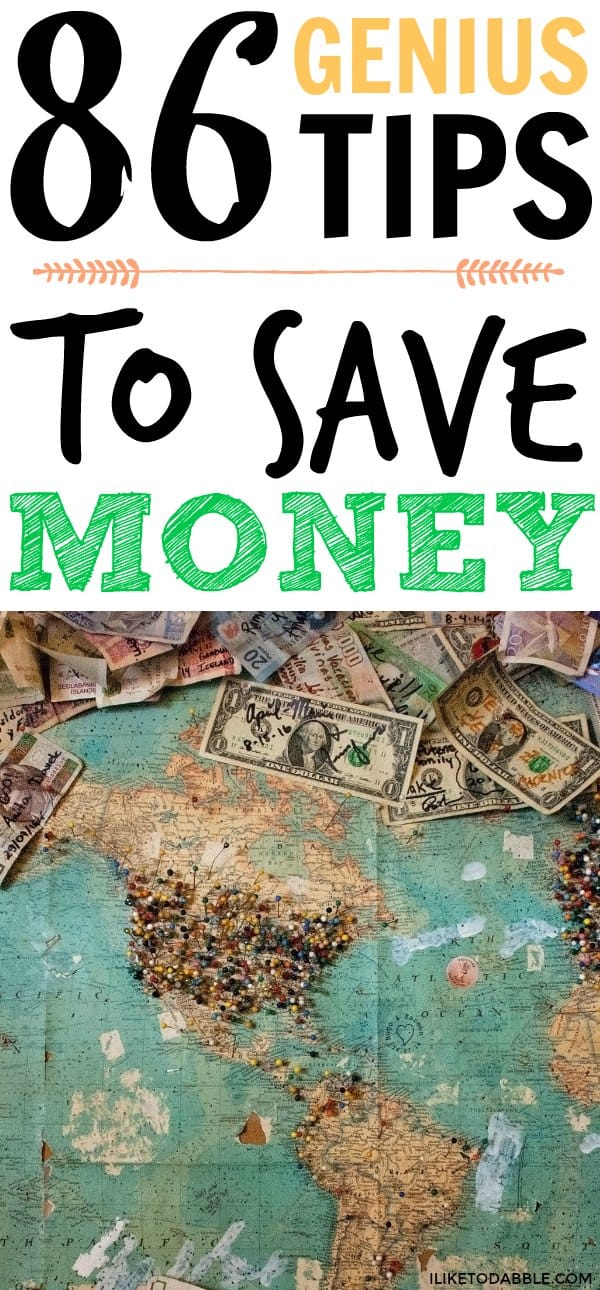Tips to save money on bills. 86 genius tips to save money every day. Saving money. Budgeting tips. Money saving tips. #tipstosavemoney #savemoney