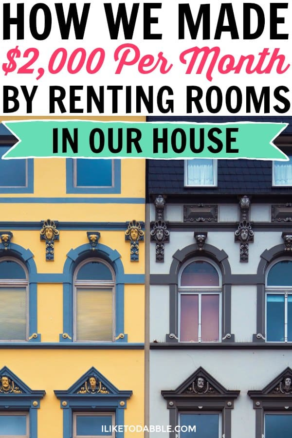 Real estate investing. Make money by renting rooms. Ways to make extra money, Side hustle ideas. Financial freedom. #realestate #investing #sidehustle
