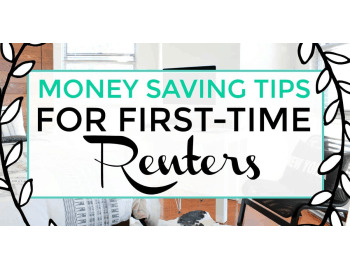 money saving tips for first time renters