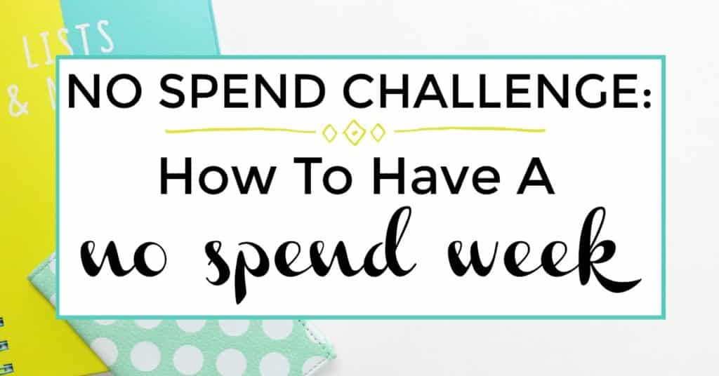 no spend week challenge