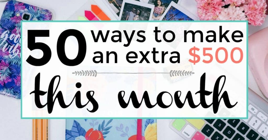 50 ways to make an extra $500 a month image