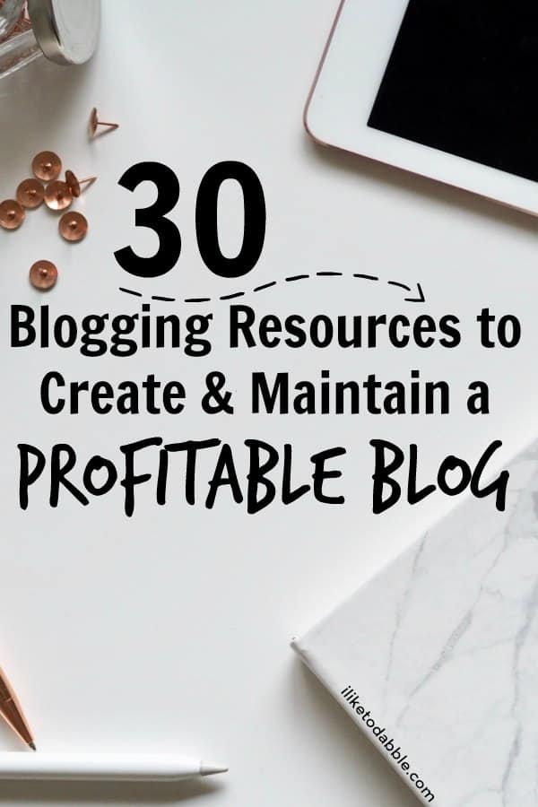 Blogging for beginners. Blogging resources. Blogging tools and resources. Blogging resources to create and maintain a profitable blog. How to make money blogging. #bloggingforbeginners #bloggingtools #bloggingresources #makemoneyblogging