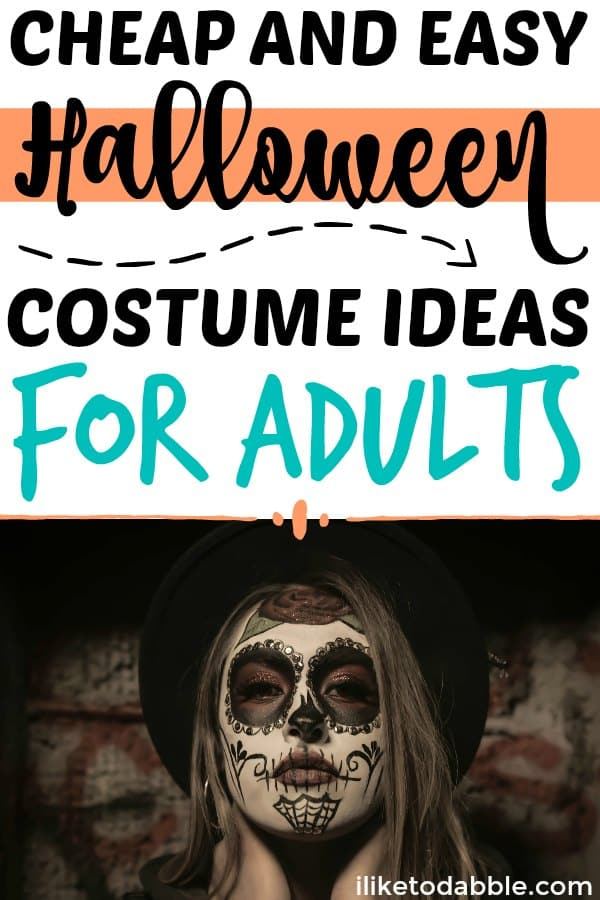 cheap and easy halloween costume ideas for adults. DIY costume ideas. Cheap costume ideas for halloween. Cheap and easy costume ideas. #diycostume #halloween #frugal #fall