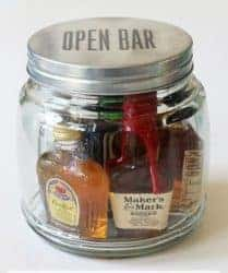 mini bar in a jar creative gift ideas