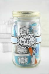 spa in a jar creative gift ideas
