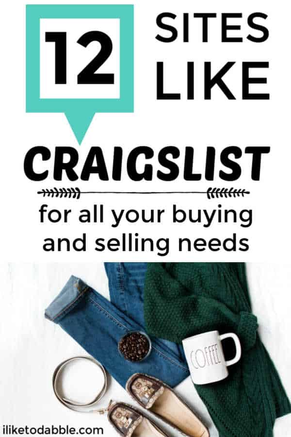 12 sites like craigslist for all your buying and selling needs. How to resell items online. How to make money as a reseller. Thrifty finds. Flipping items online. #siteslikecraigslist #reseller