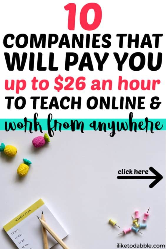 Teach english online: 10 companies that will pay you to teach and work from anywhere. Online teaching jobs. How to become an online english teacher. Side hustle ideas. Work from home. Remote jobs for teachers. #teachenglishonline #workfromanywhere
