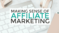 making sense of affiliate marketing logo