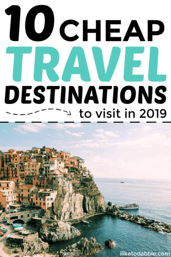 Cheap travel destinations to visit this year. Cheap international destinations to travel to. Saving money on travel. Budget travel tips. Budget traveler. #cheaptravel #budgettravel