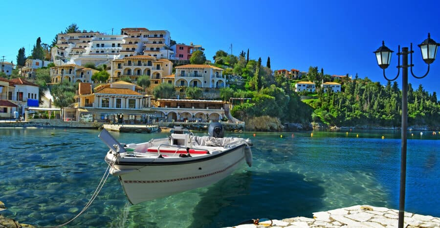 cheap travel destinations symi greece seaside image