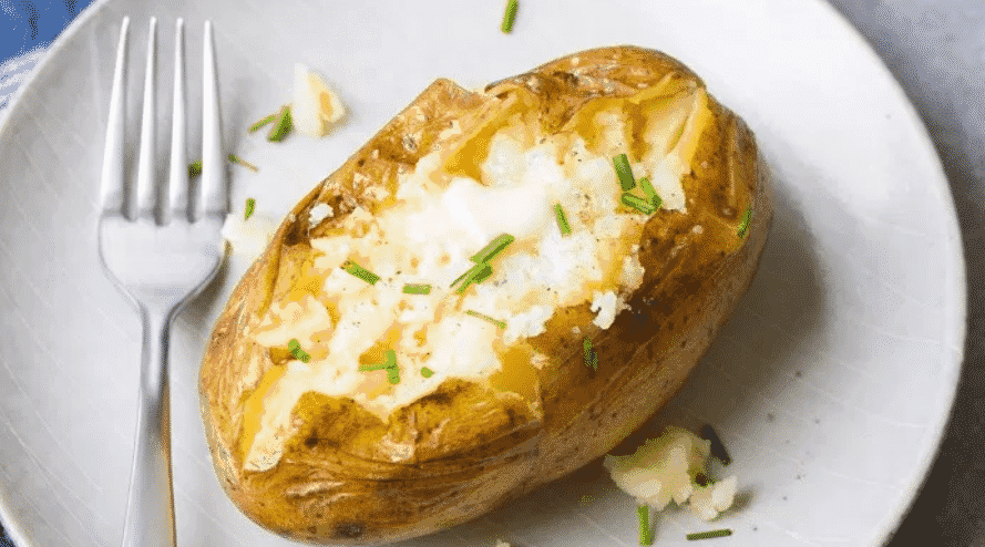 easy meal prep recipes baked potato image