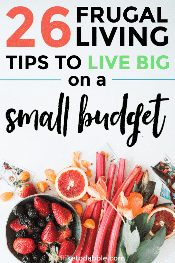 Frugal living tips to live big on a small budget. Tips to spend less and save money. Retire early. Sustainable living tips. Frugal lifestyle hacks. #frugalliving #frugallivingtips #frugaltips