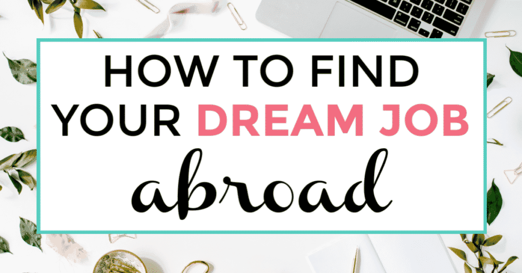 how to find your dream job abroad.. featured image of keyboard in the background.