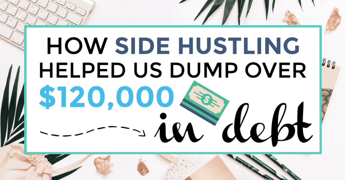 side hustle and pay off debt featured image with title text