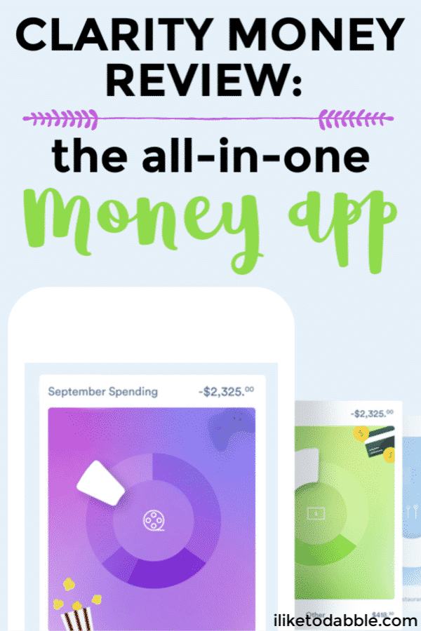This Clarity Money Review goes over all of the features of the app, the pros and cons and if you should trust and use the app. #claritymoney #moneyapp #budgetingapp