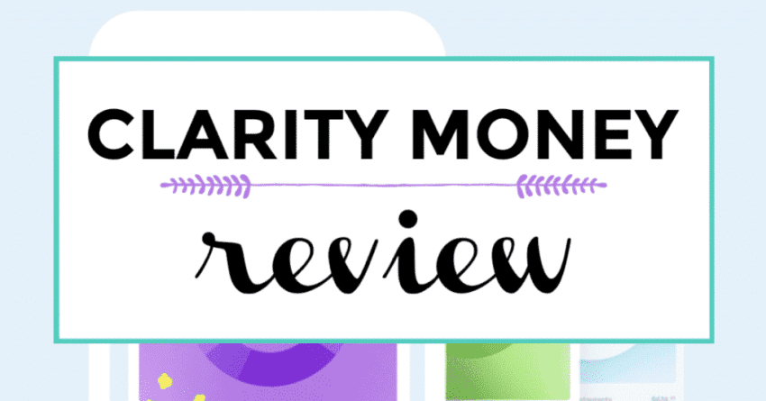 Clarity money review featured image with title text and graphics.