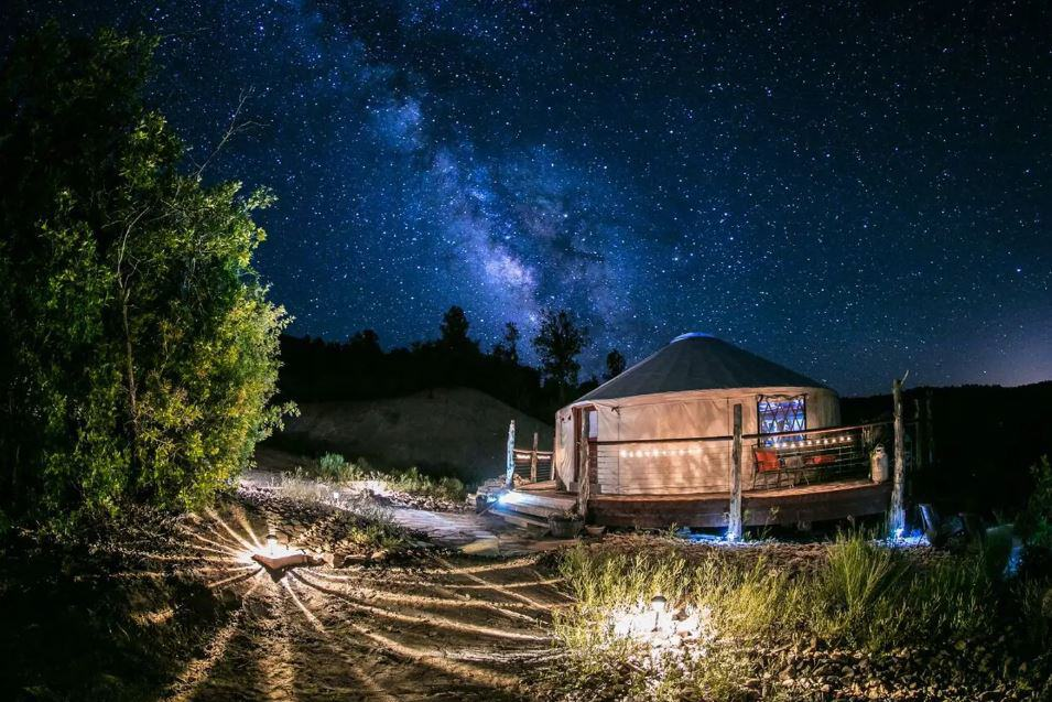Zion Backcountry Yurt for rent on airbnb