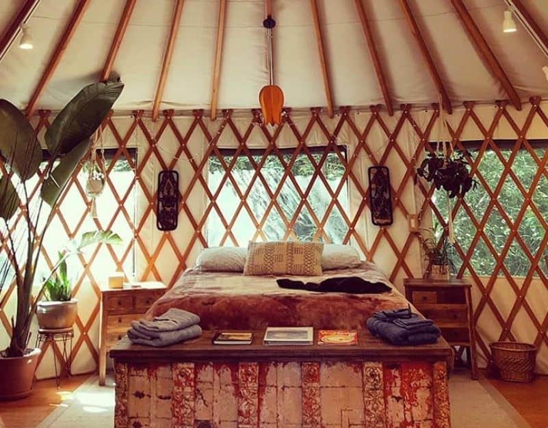 mt madonna yurt for rent on airbnb