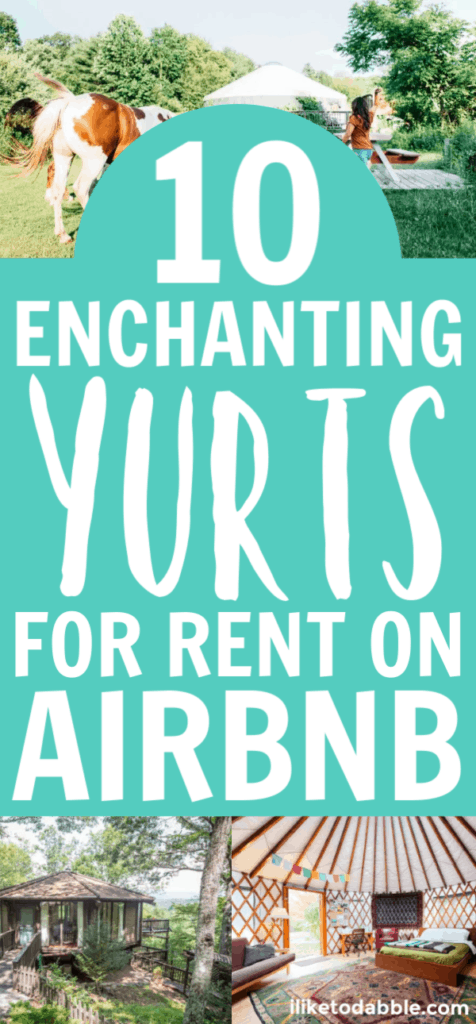 10 enchanting yurts for rent on Airbnb in the United States featuring yurts in Oregon, Washington and Utah. #yurtsforrent #airbnb #yurtsonairbnb