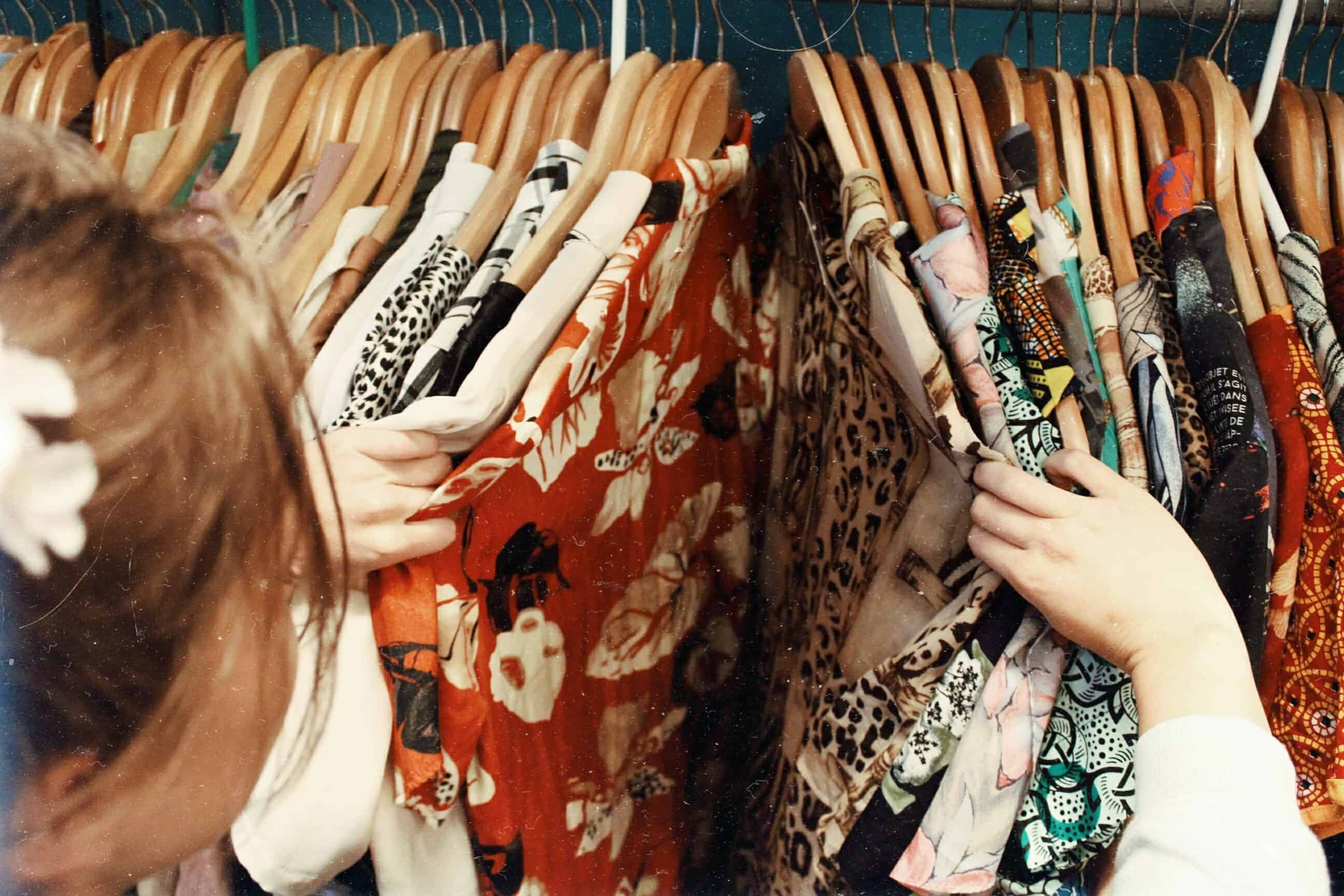 thrift store flipping clothes