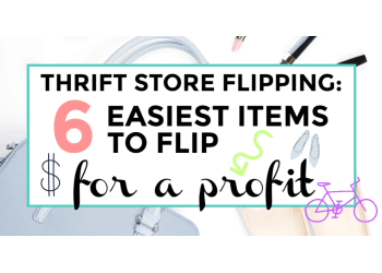 Thrift store flipping easiest items to flip featured image