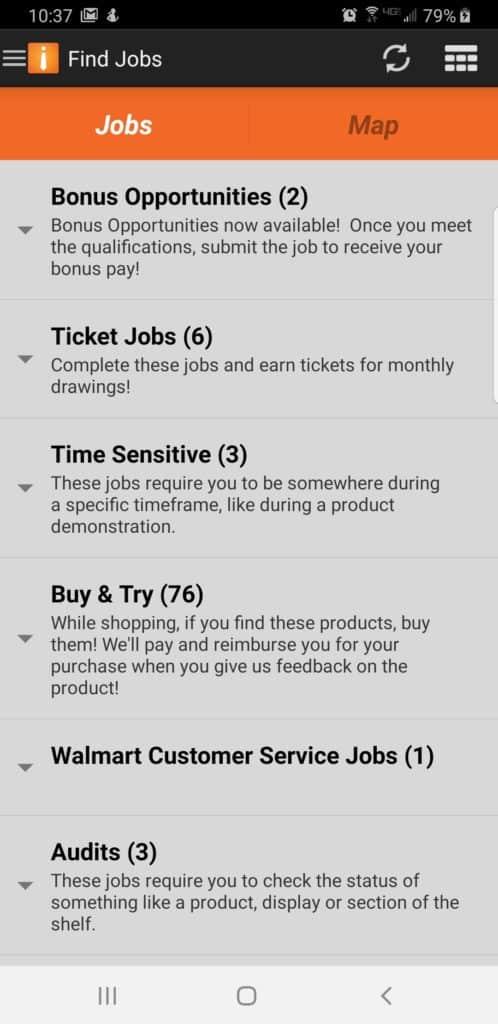 Field Agent app screen shot