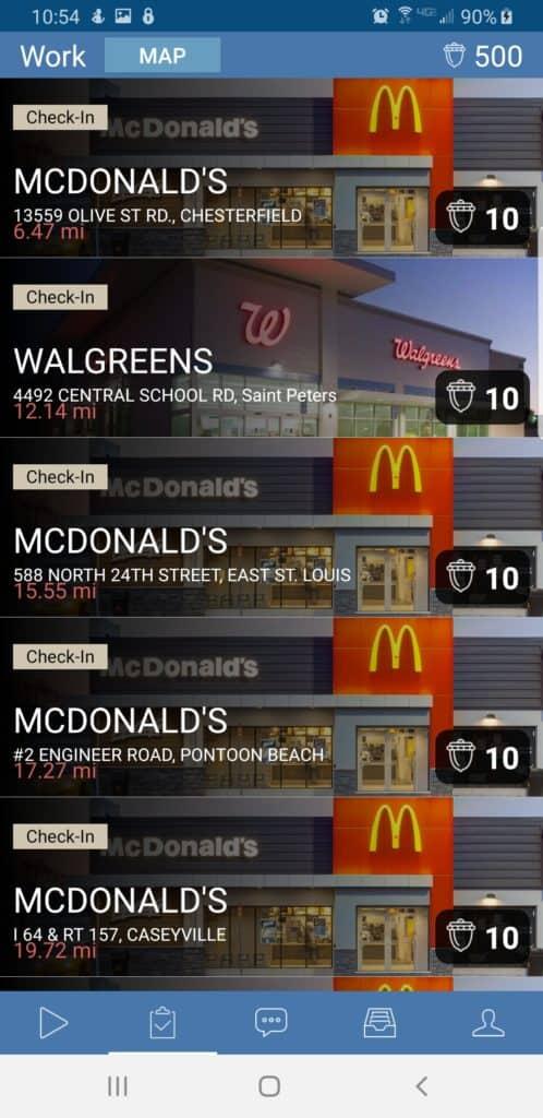 Rewardable app screen shot