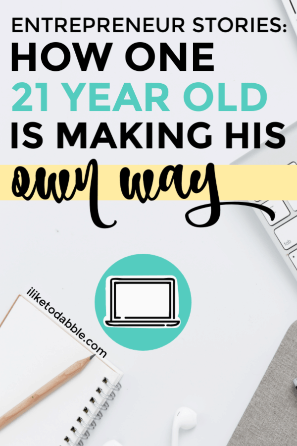 Entrepreneur stores: How one 21 year old is diving face first into the world of freelancing and working for himself. #entrepreneur #entrepreneurstories #entrepreneurlife #sidehustles