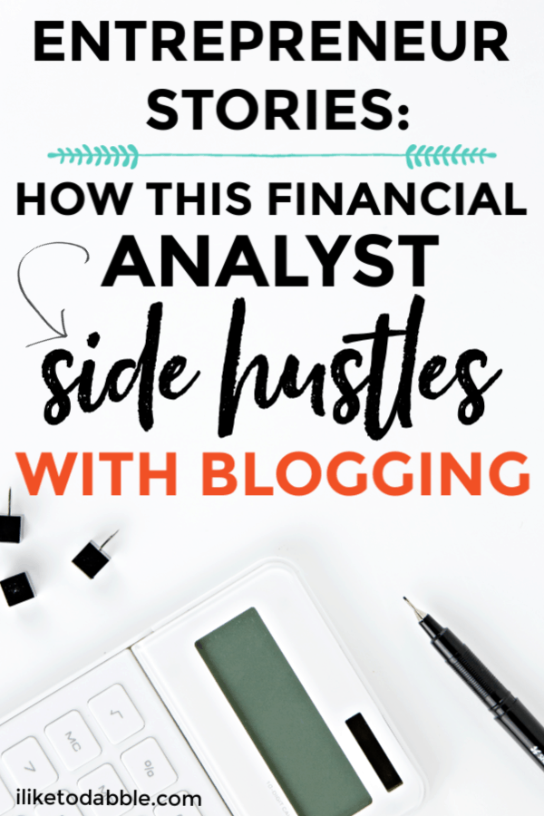 Entrepreneur Stories: How This Financial Analyst Side Hustles with Blogging. This interview is with Riley from Youngandinvested.com and talks about juggling a job at google with blogging as a side hustle.