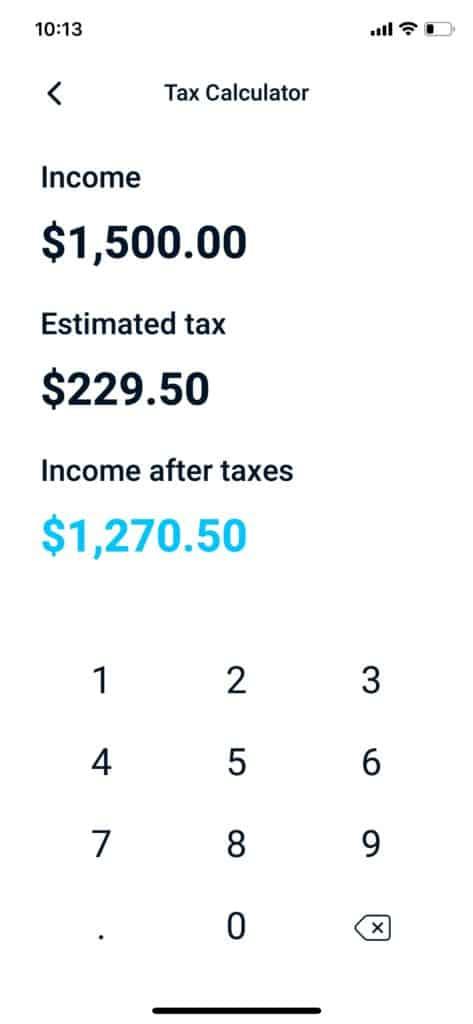 Better Tax Calculator Screen Shot