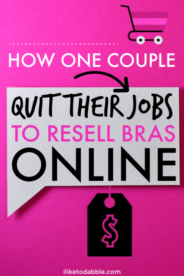 This entrepreneur story features Nathan and Alysha from Hustle Buddies who quit their jobs as teachers to do full time Amazon retail arbitrage. Their favorite item to sell? Bras! #retailarbitrage #resellonline #resellers #resell #amazonfba #amazonseller #sidehustles #bestsidehustles #sidehustleideas #makemoneyonline #makemoney
