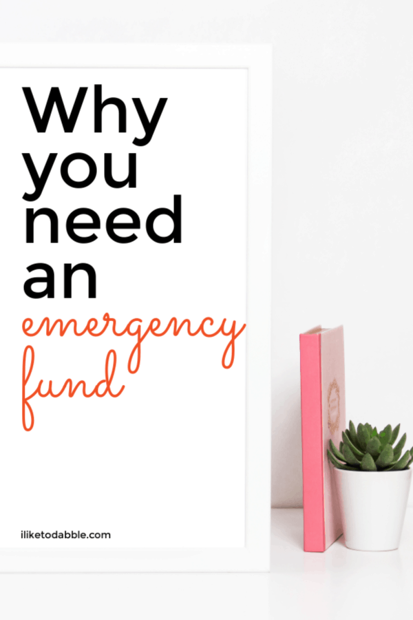 This complete guide will tell you why you need an emergency fund, how much to set aside, where to keep your money and much more. Image of journal and plant. #emergencyfund #budgetingtips #cashreserves #savemoney #moneytips #financetips #debtfree #savingmoney