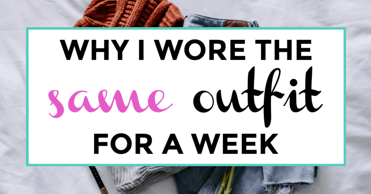 capsule wardrobe experiment. featured image of clothing in the background.