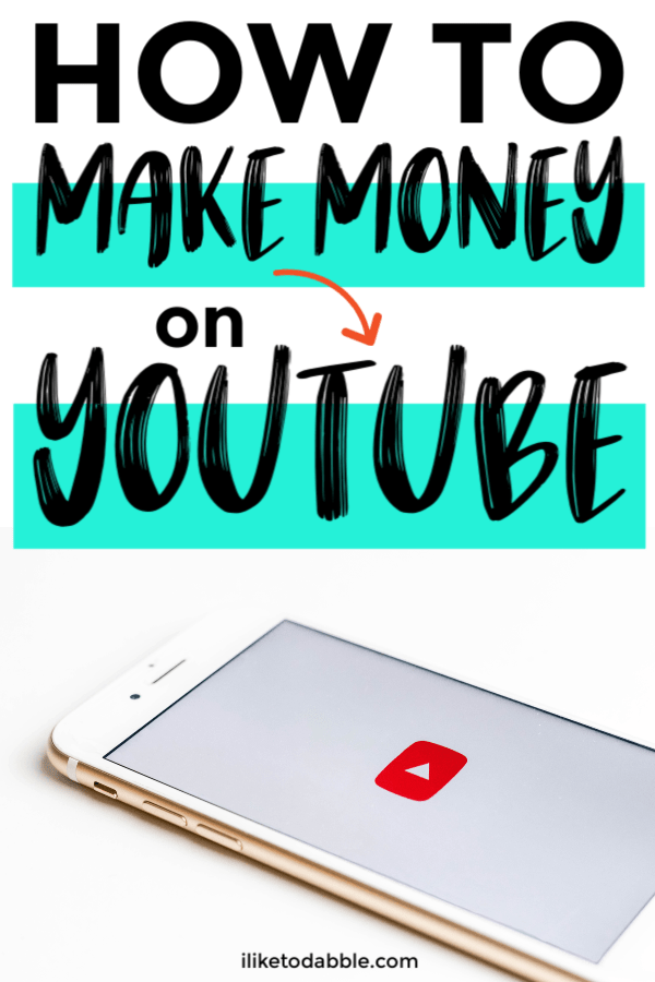 Step by step guide on how to make money on youtube. Image of phone on the YouTube app.#makemoney #sidehustle #makemoneyonyoutube #youtube #sidegig #makemoneyonline #makingmoney #incomestream #onlinework