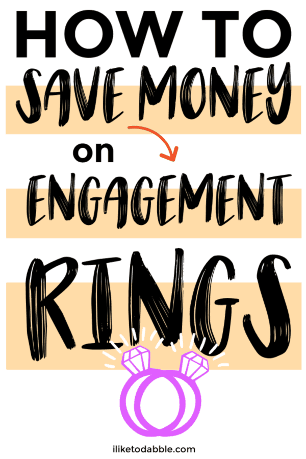 How to save money on engagement rings. Image of engagement rings.  #savemoney #wedding #engagementring
