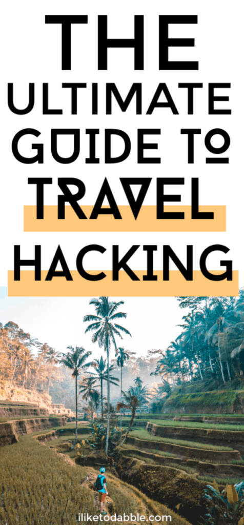 The ultimate beginners guide to travel hacking. Image of man hiking within palm trees. #travelhackin #savemoney #cheaptravel #discounttravel #traveltips #rewardshacking #travelrewards #travelhack
