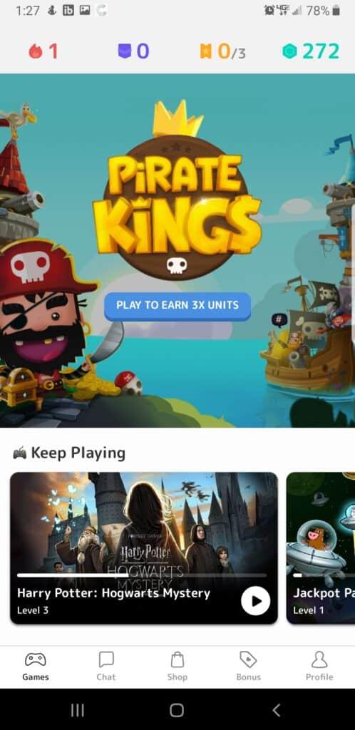 Mistplay examen - section en vedette du jeu - Capture d'écran de Pirate Kings