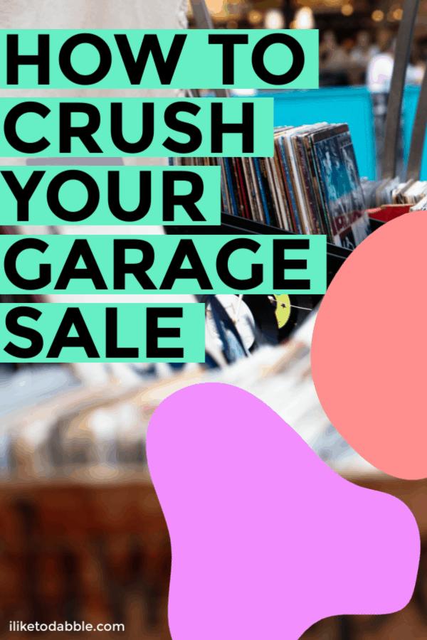 How to crush your garage sale and make more money! Image of music records. #garagesale #makemoney #extracash #earnmoney #sidehustle #sidegig #sellyourstuff #reseller #thriftstoreflipper #sellonline
