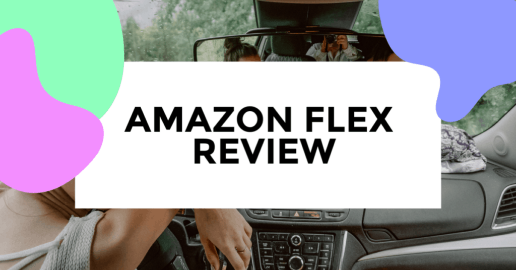 Amazon Flex .featured image of driver in truck.