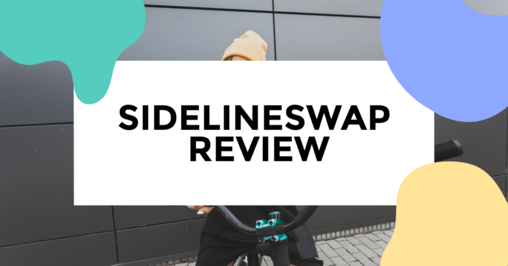 sidelineswap review. featured image woman on a bike.